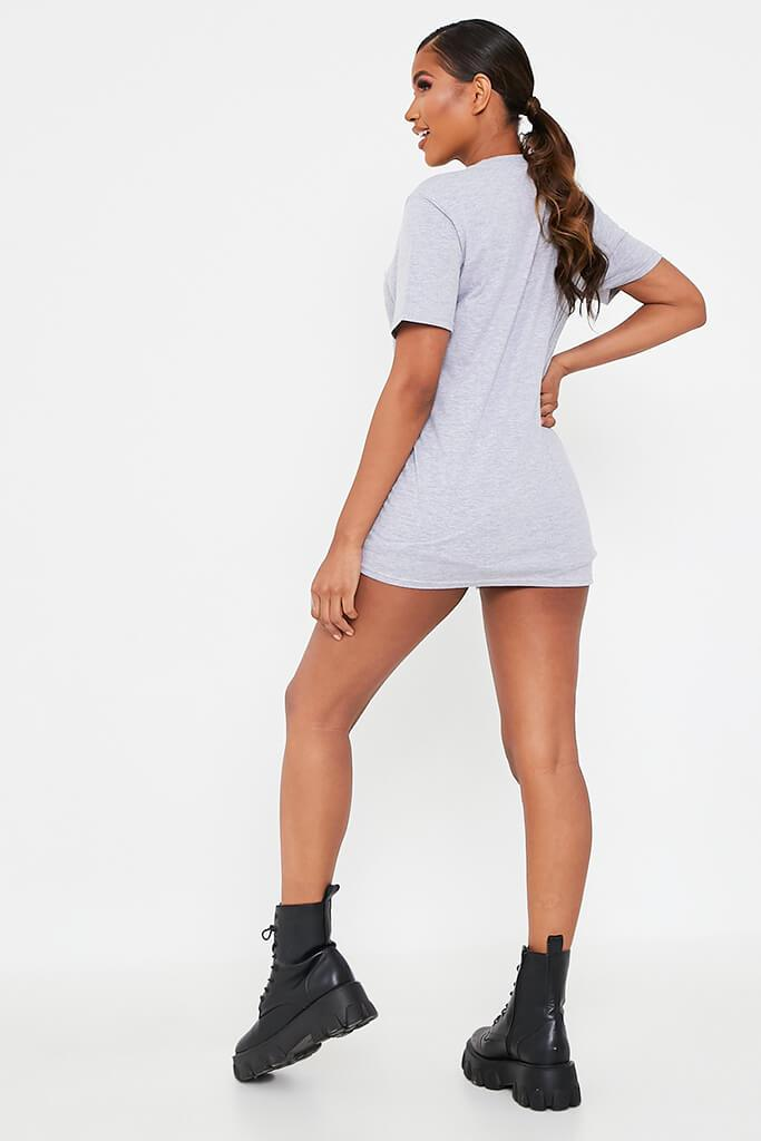 Grey Marl Baby Oversized T-Shirt view 5