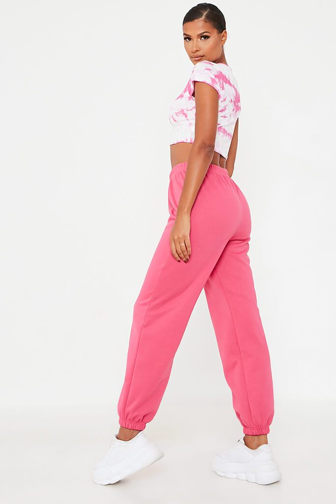 Hot Pink Cropped Cap Sleeve Top view 4