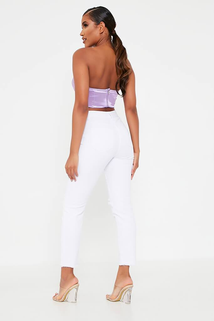 Lilac Bust Cup Zip Back Bralet view 5