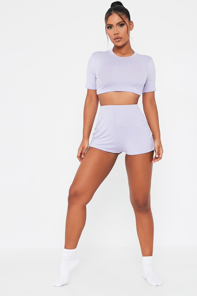 Lilac Jersey Pj Short Set view 2