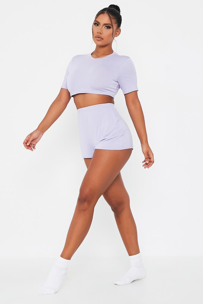 Lilac Jersey Pj Short Set view 3