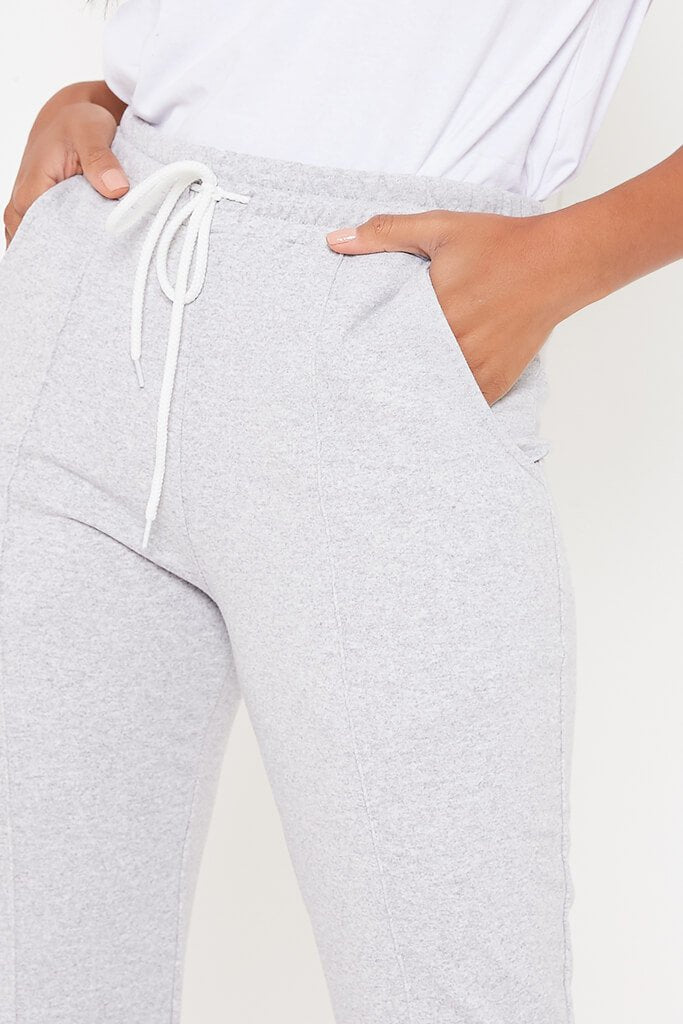 Grey Flared Drawstring Waist Joggers view 4