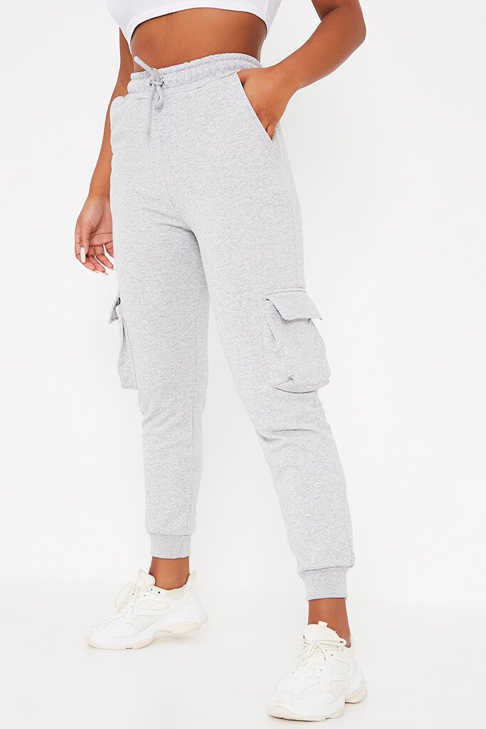 Grey Utility Pocket Slim Fit Joggers view 2
