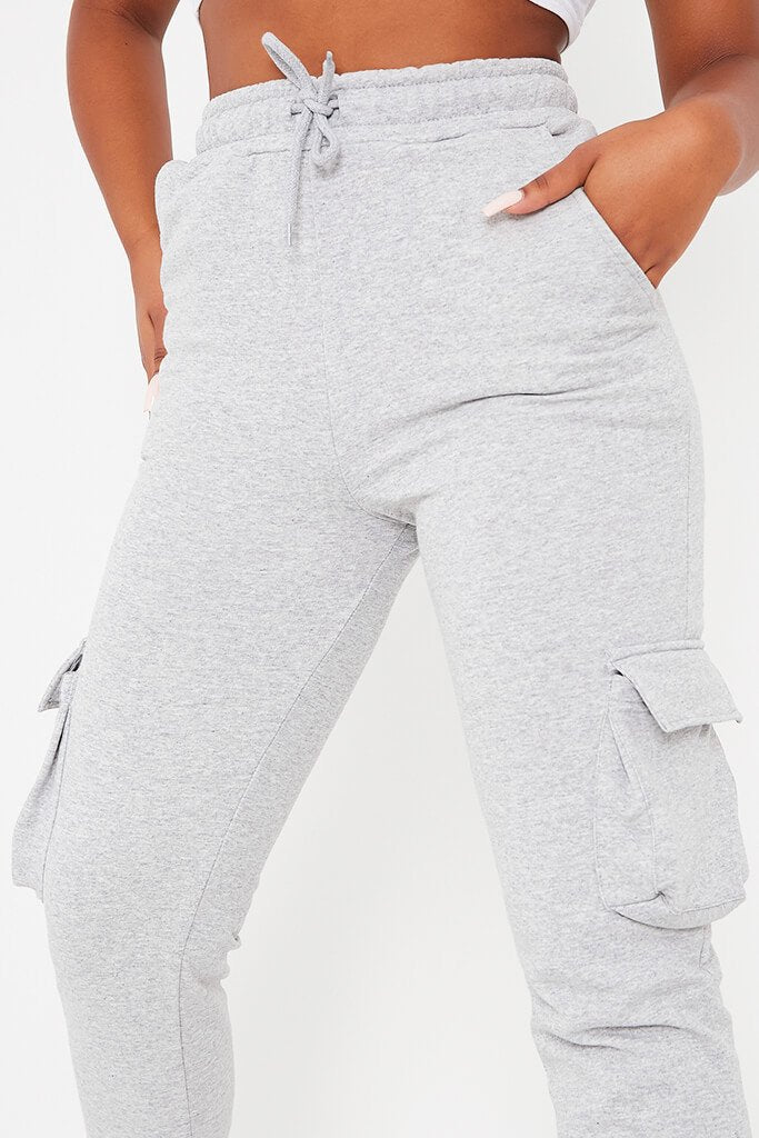 Grey Utility Pocket Slim Fit Joggers view 5