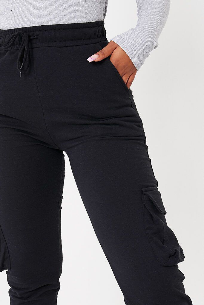 Black Utility Joggers view 5