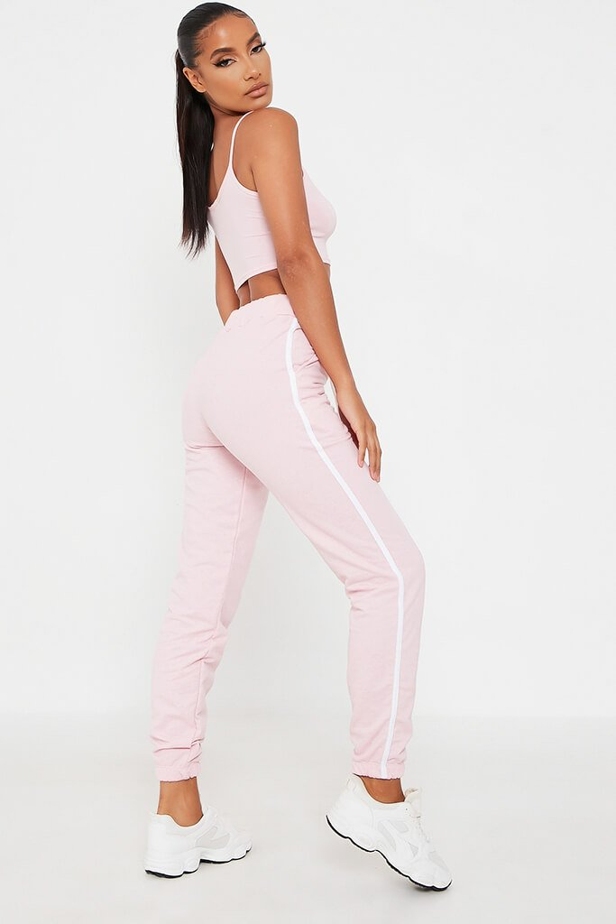 Pink Side Stripe Jogger view 5