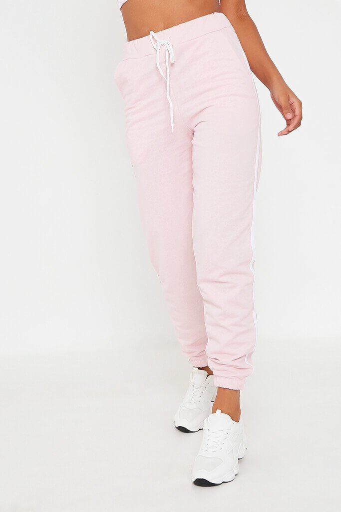 Pink Side Stripe Jogger view 2