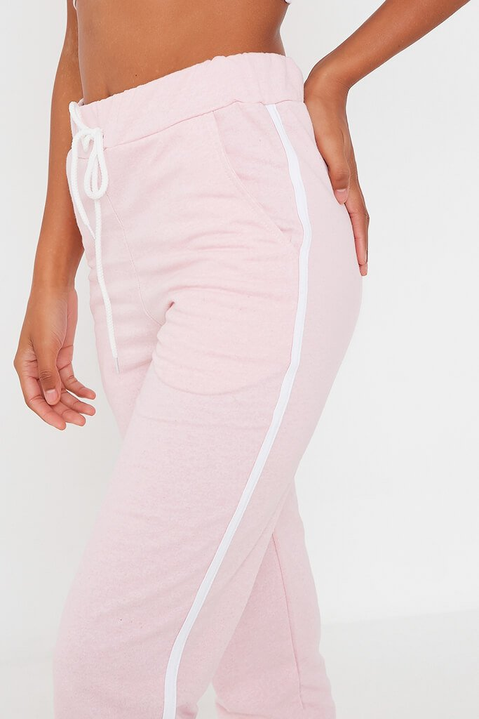 Pink Side Stripe Jogger view 4