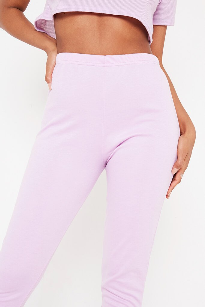 Lilac Plain Lounge Jogger view 4