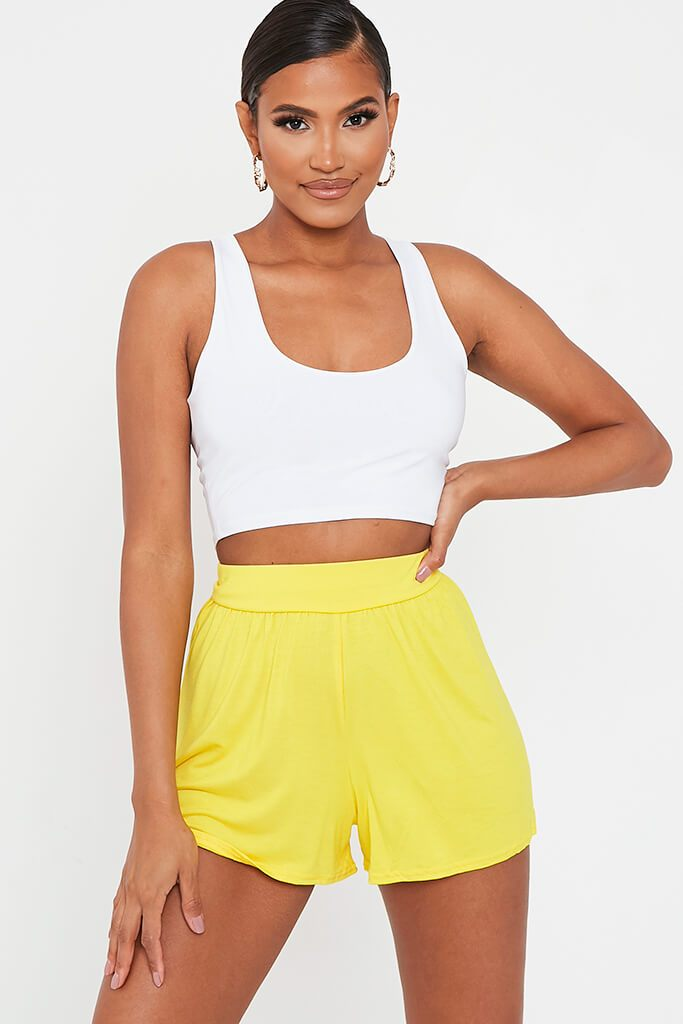 Lemon Loose Flippy High Waisted Short view main view