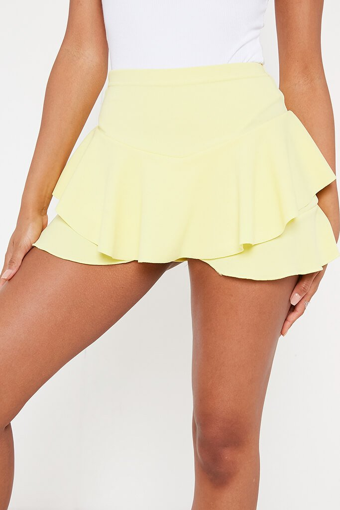 Lemon Ruffle Skorts view 4