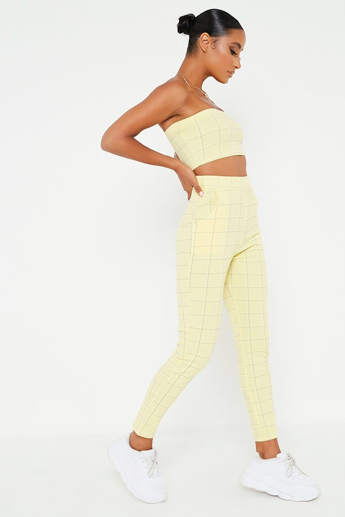 Lemon Check Print Bandeau view 3