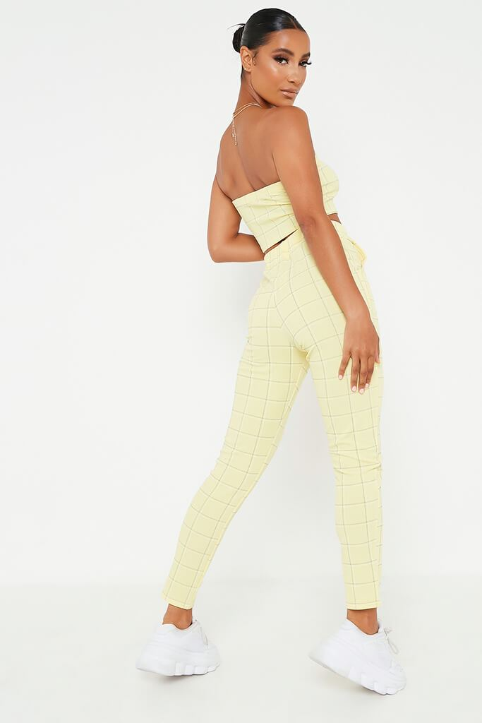 Lemon Check Print Bandeau view 5