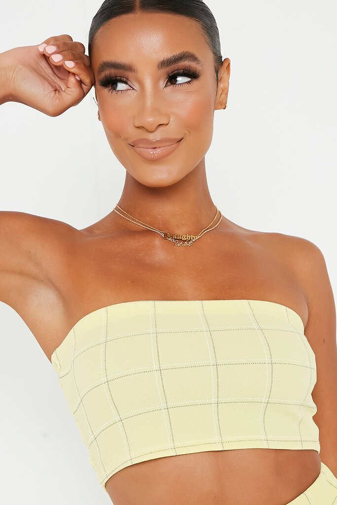 Lemon Check Print Bandeau view 4