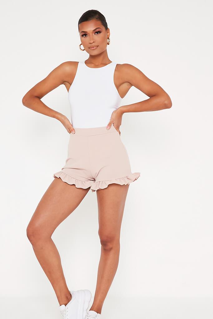 Stone Frill Hem Shorts view main view