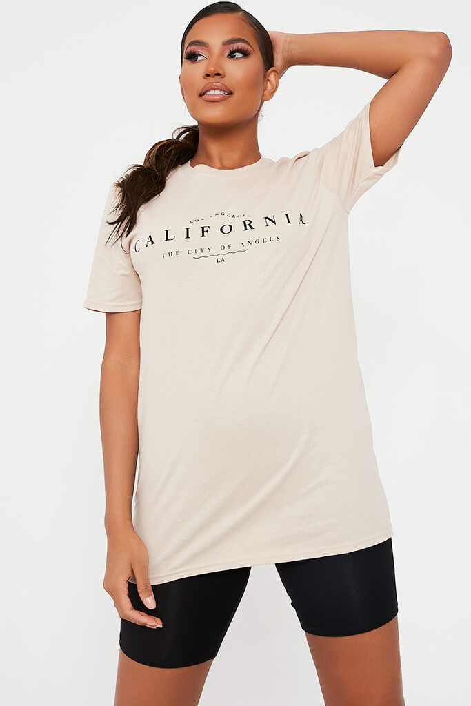 Stone California Graphic Print Oversized T-Shirt
