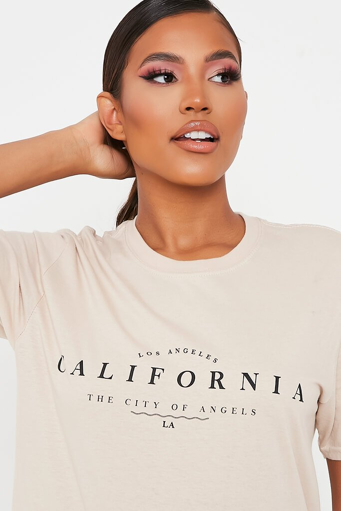 Stone California Graphic Print Oversized T-Shirt view 4