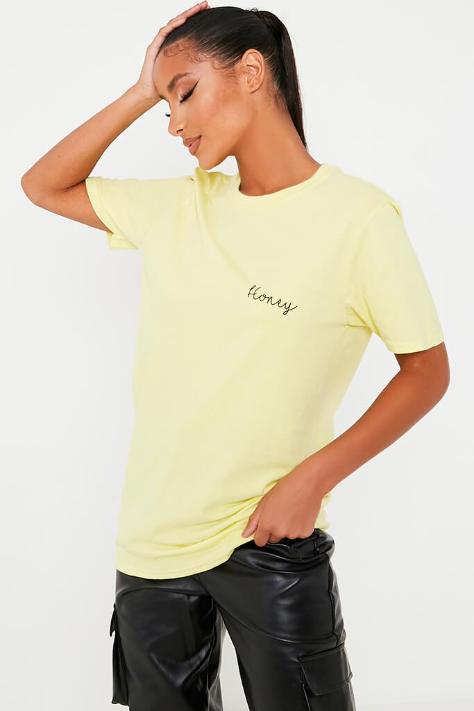 Lemon Honey Slogan Oversized T-Shirt