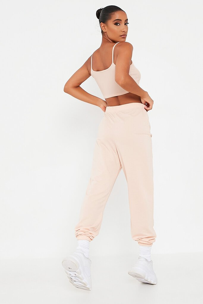 Blush Pink Elasticated Waist Oversized Jogger view 3