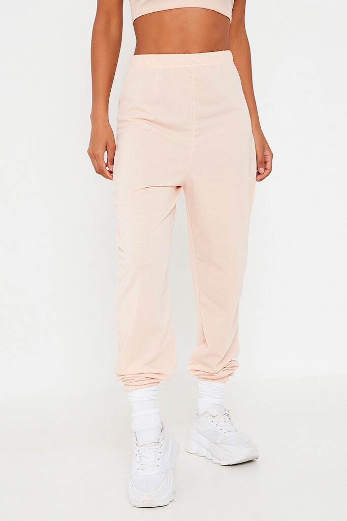 Blush Pink Elasticated Waist Oversized Jogger view 2