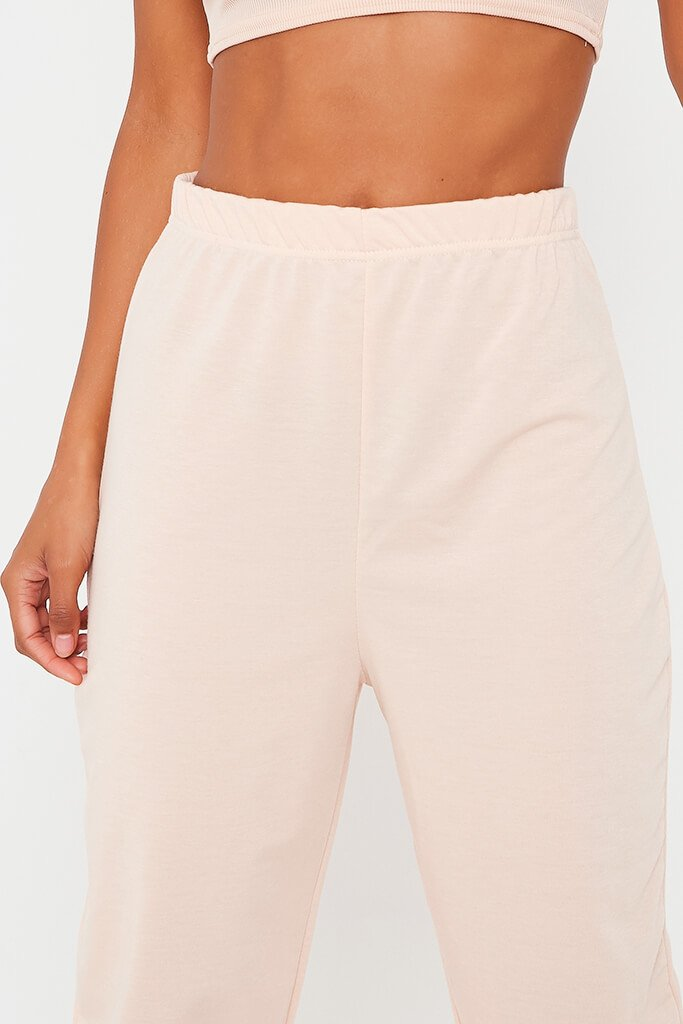 Blush Pink Elasticated Waist Oversized Jogger view 4