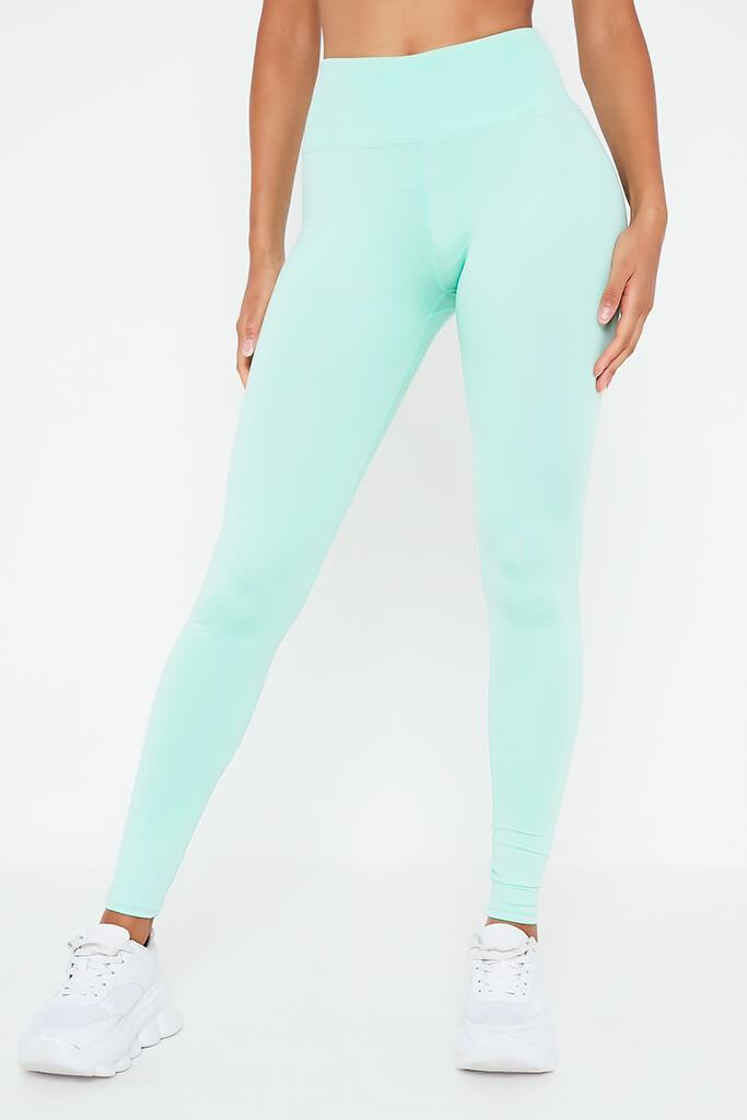 Mint Green Basic Active Leggings view 2