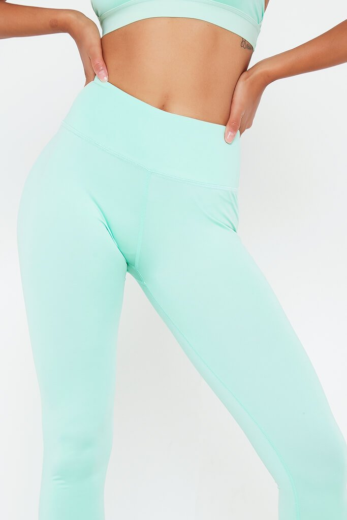 Mint Green Basic Active Leggings view 4