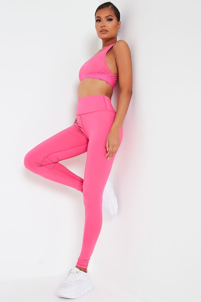Hot Pink Basic Active Leggings view main view
