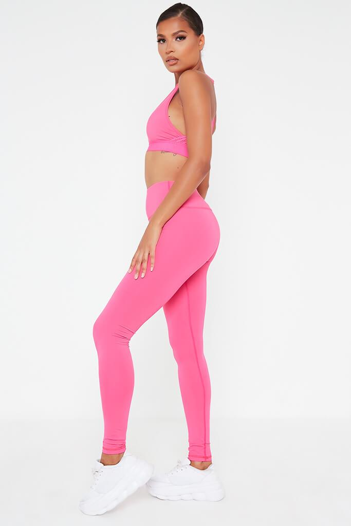 Hot Pink Basic Active Leggings view 3