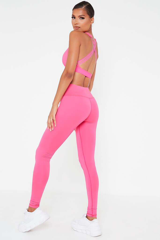 Hot Pink Basic Active Leggings view 5