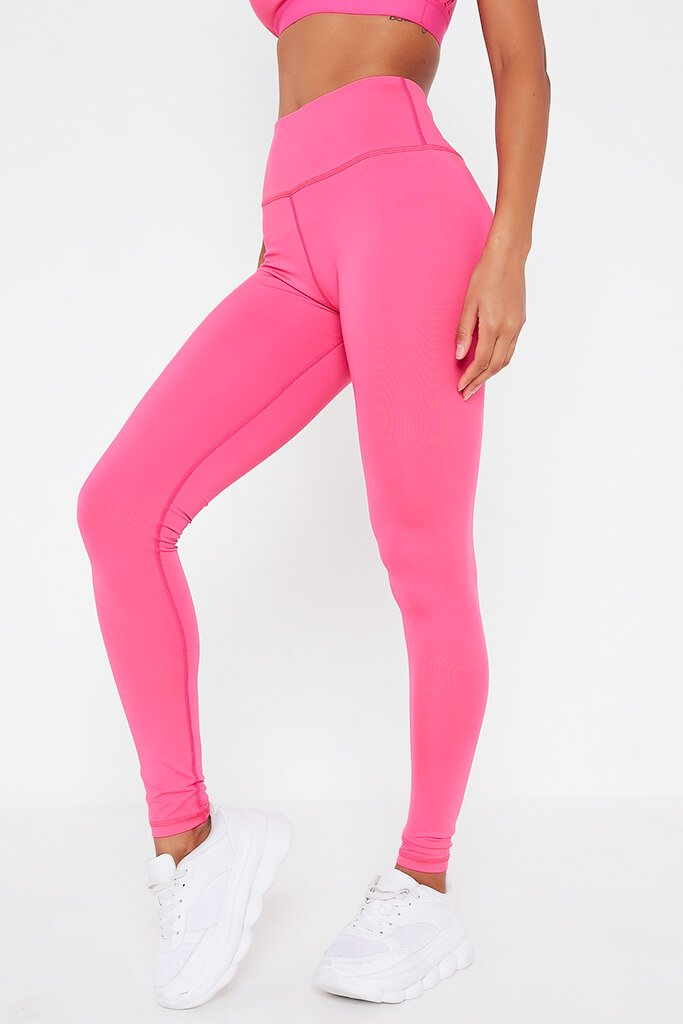 Hot Pink Basic Active Leggings view 2