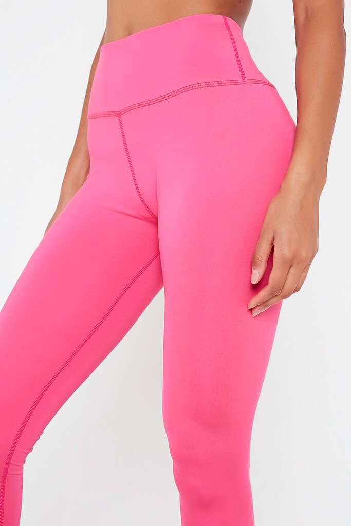 Hot Pink Basic Active Leggings view 4