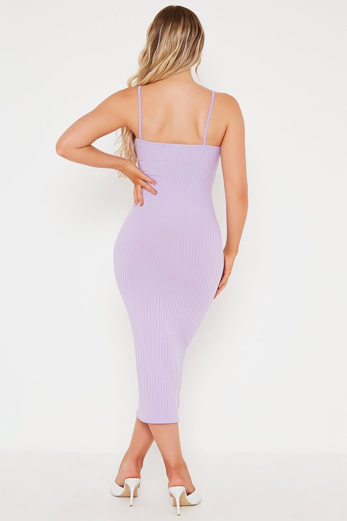 Lilac Cami Ribbed Midaxi Dress view 5
