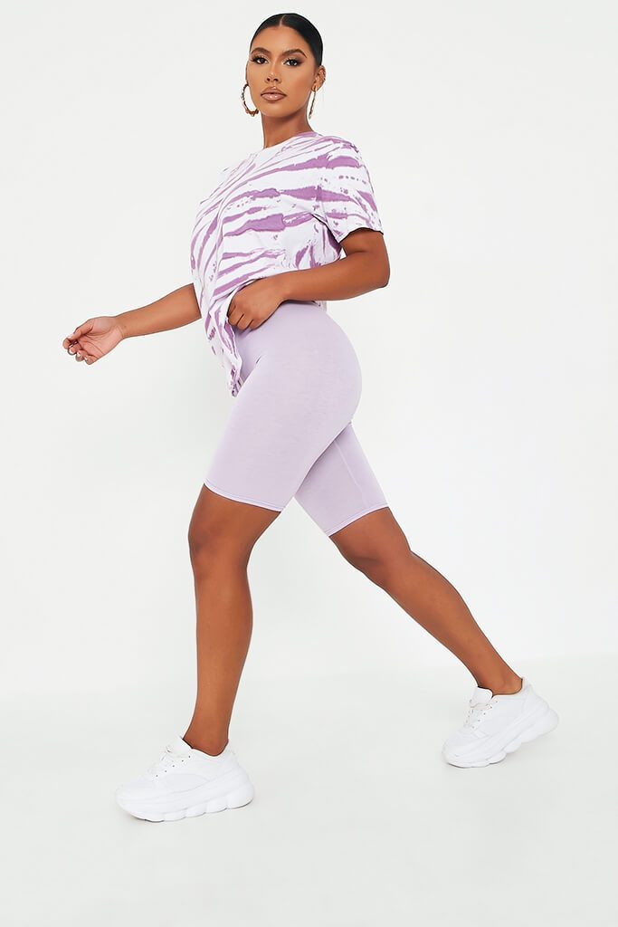 Lilac Viscose Cycling Shorts view 3