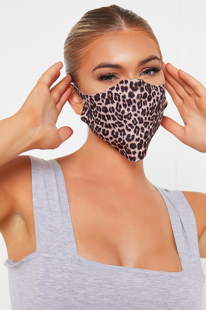 Animal Leopard Print Face Mask view 2