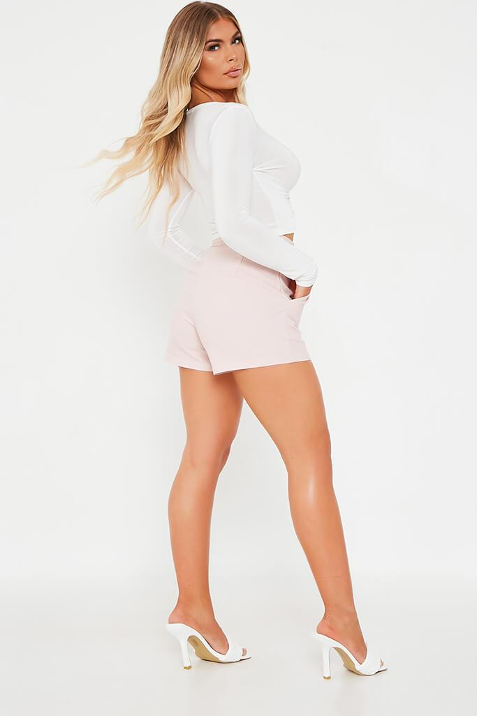 Blush Pink High Waisted Shorts view 3