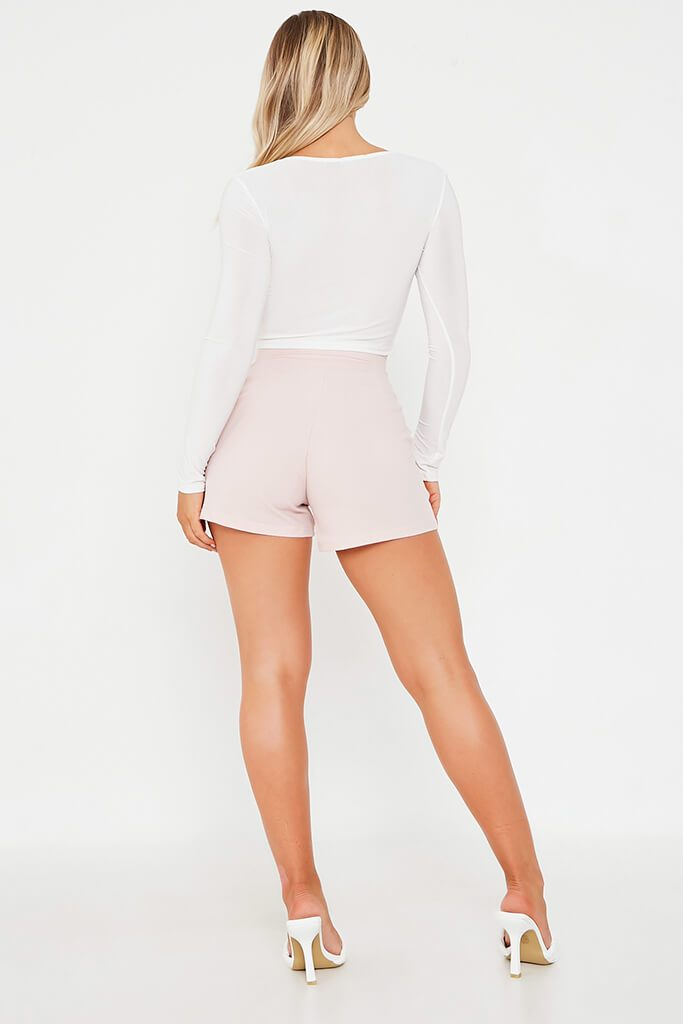 Blush Pink High Waisted Shorts view 4