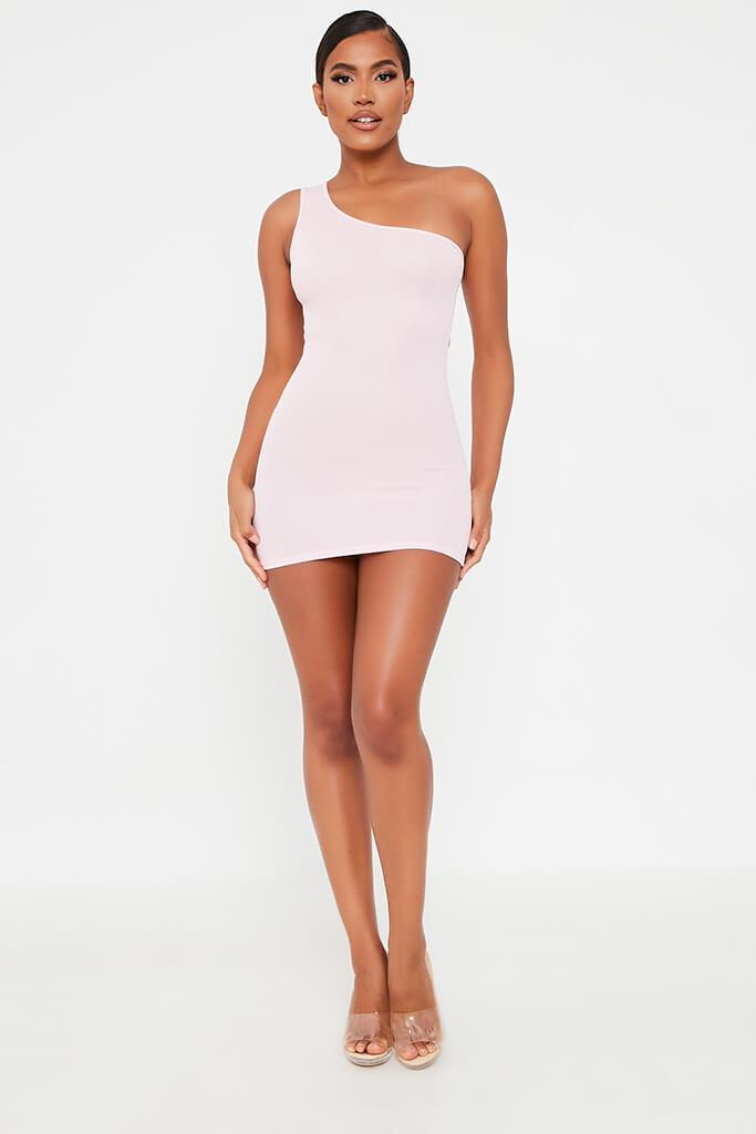 Lilac One Shoulder Mini Dress view 2