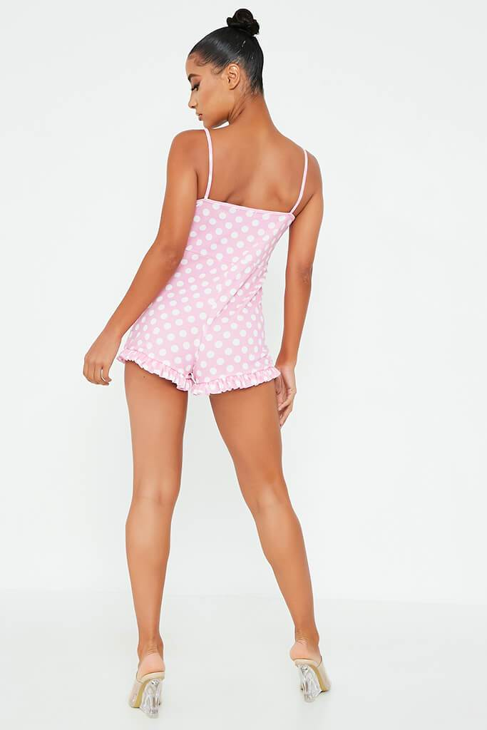 Pink Polka Dot Cami Playsuit view 5