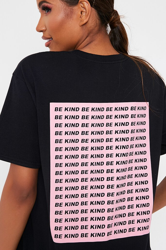 Black Be Kind Oversized T-Shirt view 4