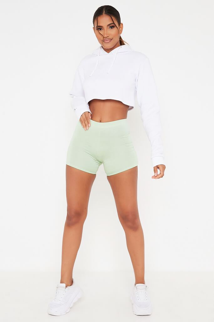 Sage Crop Cycling Shorts view 2