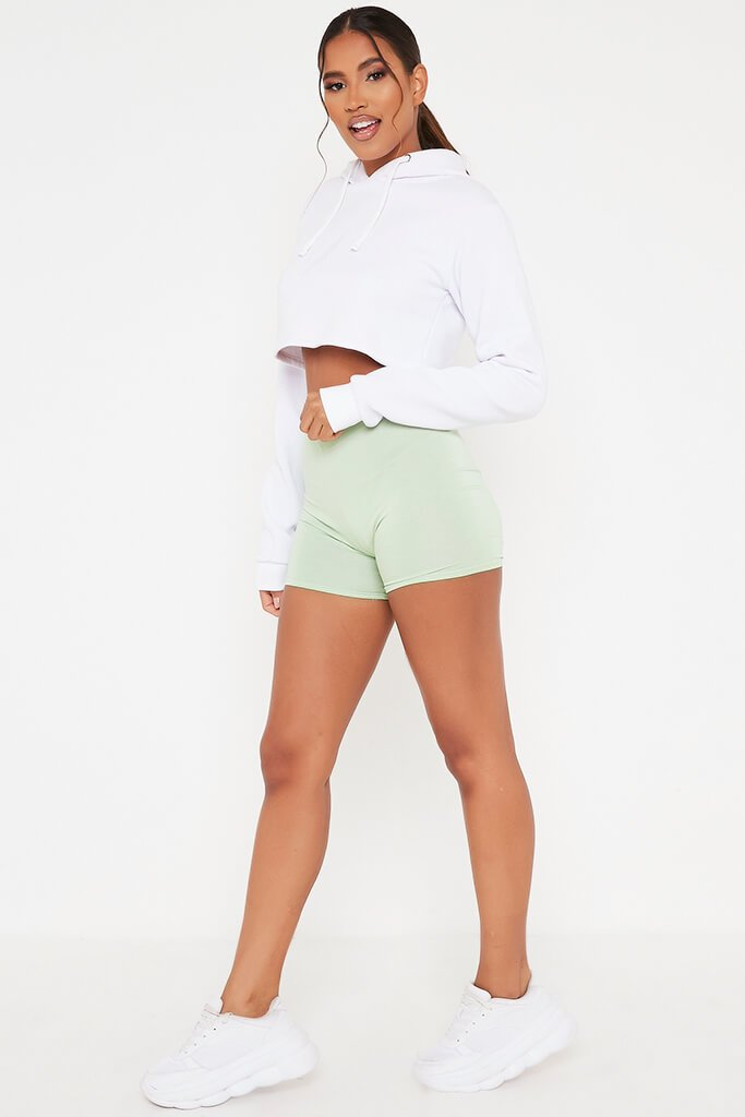 Sage Crop Cycling Shorts view 3