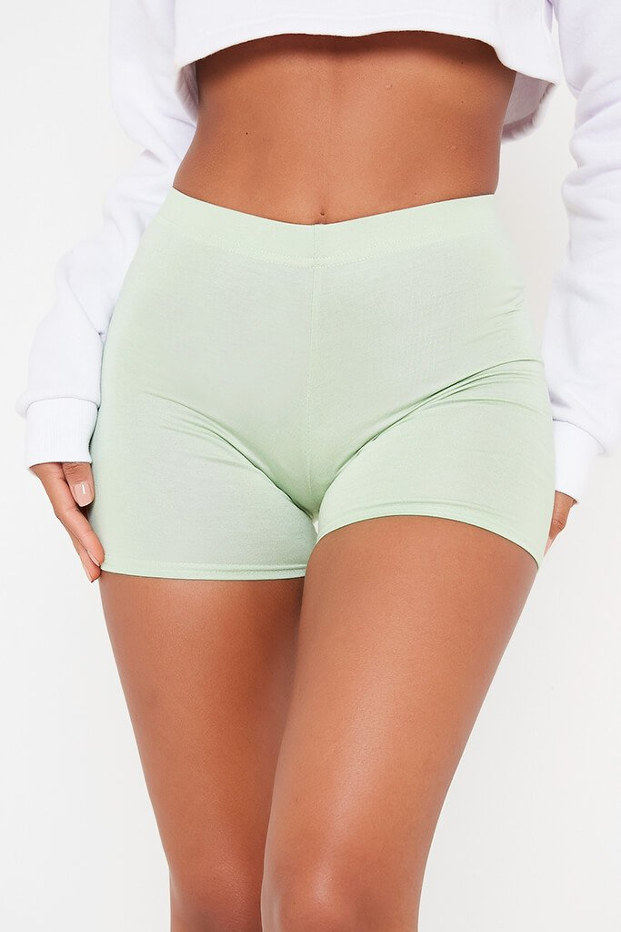 Sage Crop Cycling Shorts view 4