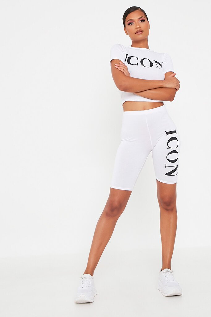 White Icon Cycling Short view 2
