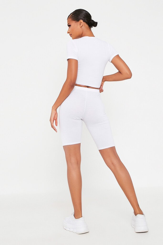 White Icon Cycling Short view 5