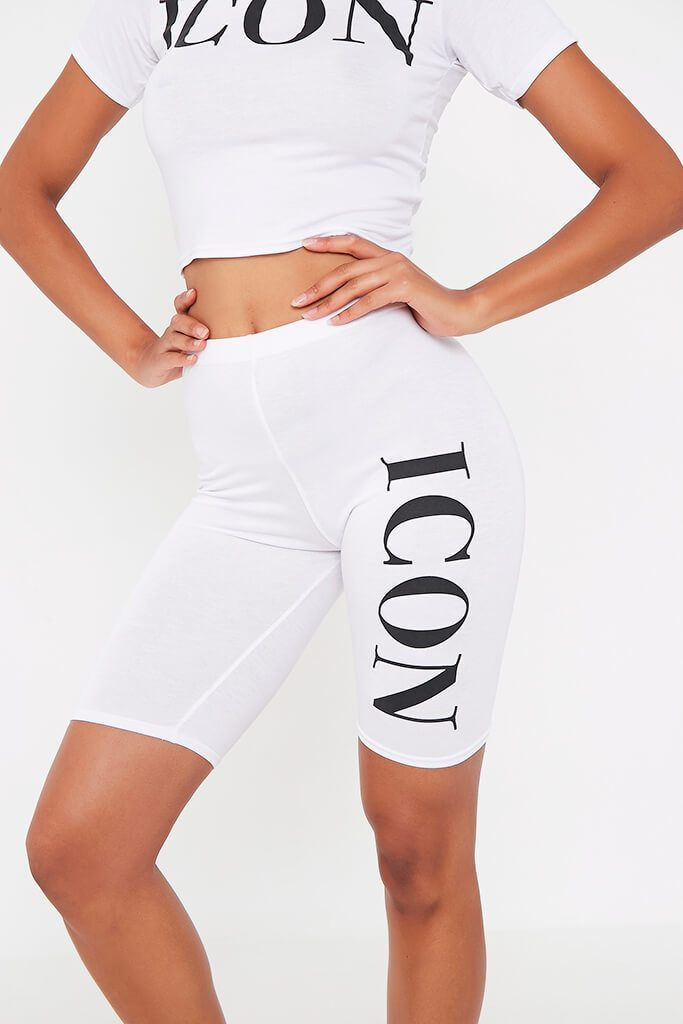 White Icon Cycling Short view 4
