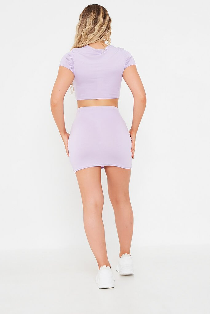 Lilac Jersey Mini Skirt view 5