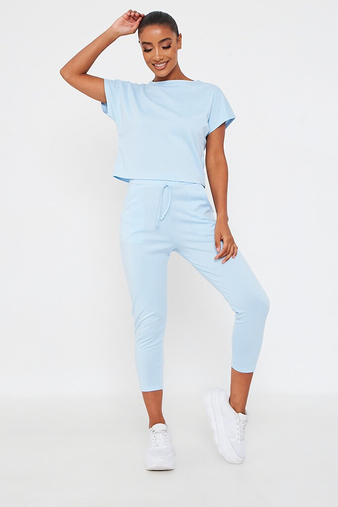 Baby Blue Boxy Lounge Set