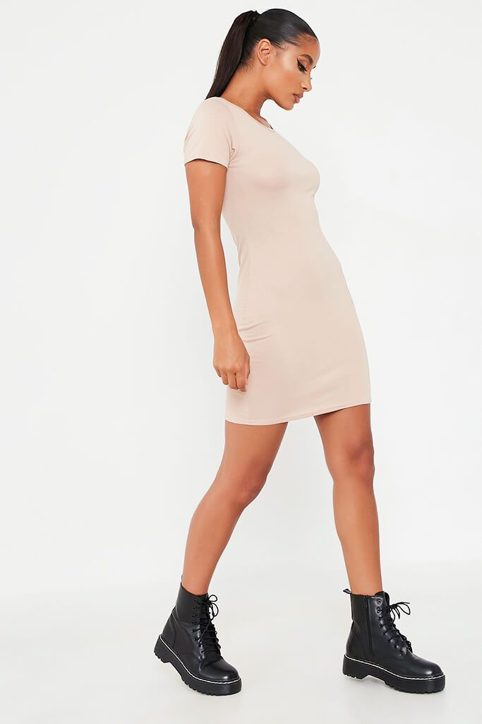Stone Basic Jersey Fitted T Shirt Dress view 3