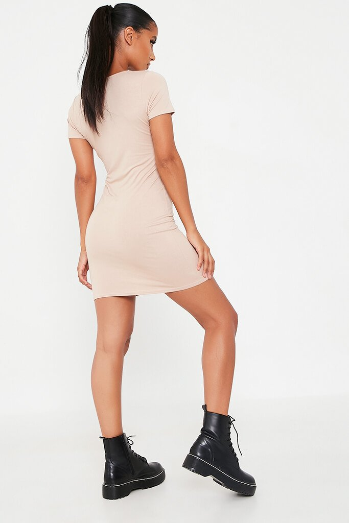 Stone Basic Jersey Fitted T Shirt Dress view 5
